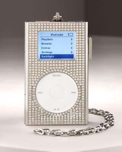 Funda de lujo para el iPod. Dinero a la basura