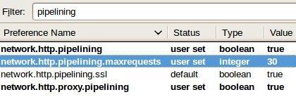 Firefox  - Pipelining