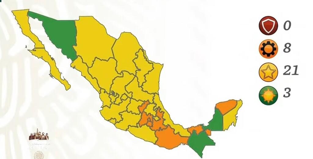 México se pinta de amarillo en semáforo por COVID y Sonora se convierte en el tercer estado en semáforo verde
