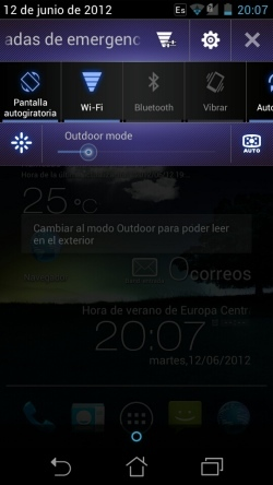 Captura de pantalla notificaciones ASUS padfone