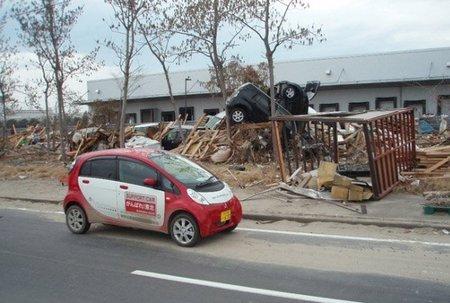 El Mitsubishi Miev arrima el hombro en Fukushima