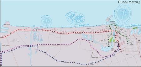 Financiación del metro de Dubai: se venden estaciones