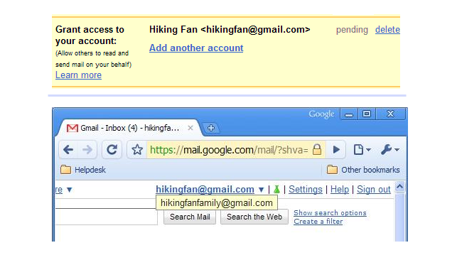Delegación de correo en Gmail