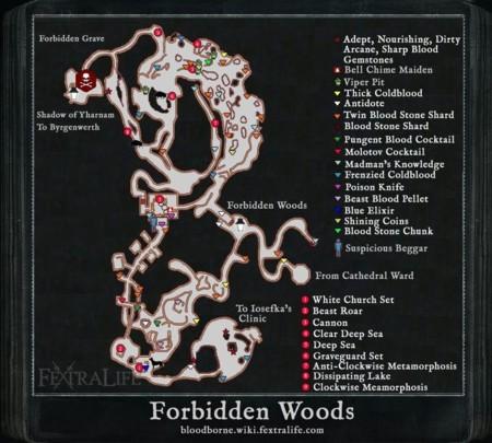 Bloodborne (mapa del Bosque Prohibido)