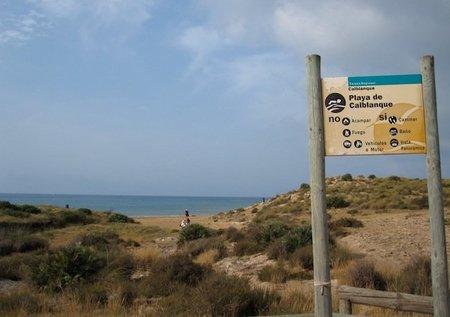 Parque natural de Calblanque en Murcia