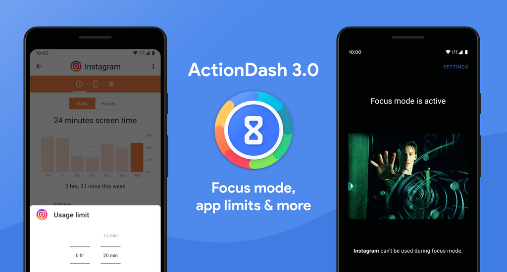 ActionDash 3.0: the well-being digital Action Launcher ahead of Google and add Focus Mode