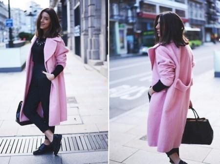 abrigo rosa asos
