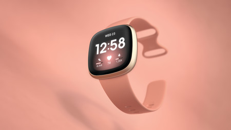 Fitbit Versa 3 Hero Pink Clay Crop Center