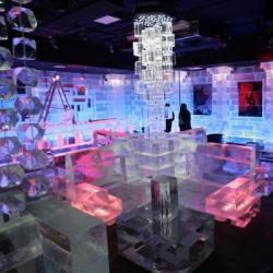 Bar hecho de hielo en Dubai