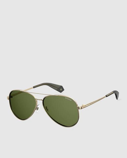Gafas de sol mujer Polaroid Capsula Sara Carbonero aviador de metal dorado