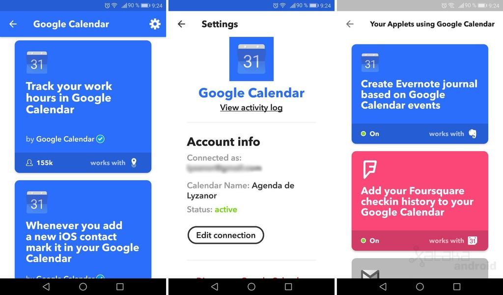 Google Calendar Ifttt
