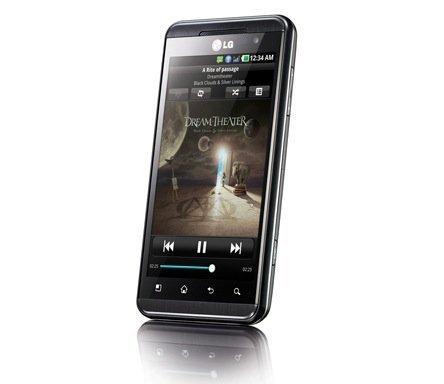 LG Optimus 3D de frente