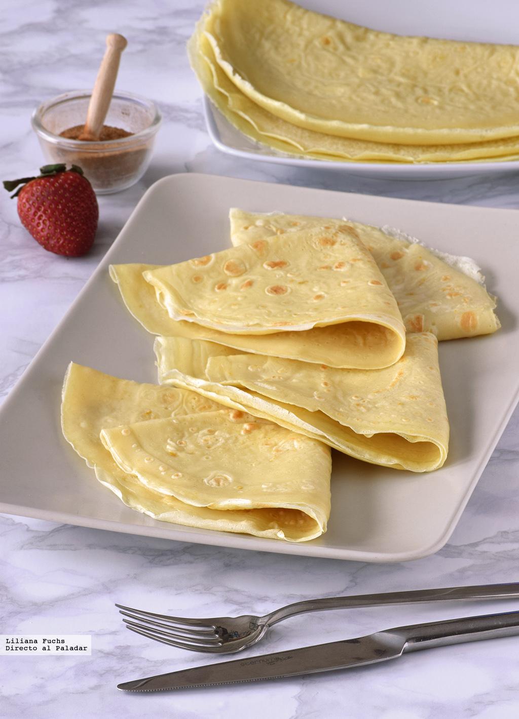 Masa de cr pes receta de cocina f cil sencilla y deliciosa - Hacer masa para crepes ...