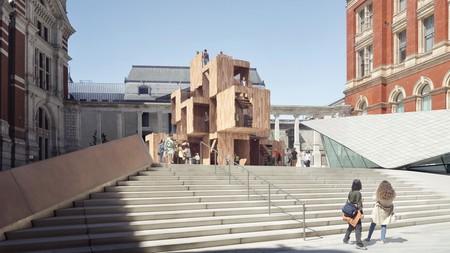 El Festival de Diseño de Londres llega en septiembre con impresionantes diseños como Multiply, una estructura modular y efímera que se instalará en el patio de Museo Victoria & Albert