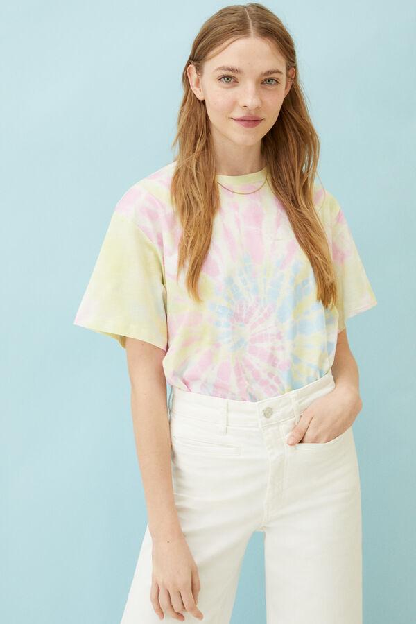 Camiseta con estampado tie-dye