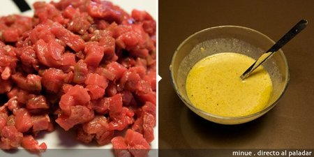 tartar de ternera - elaboración 1
