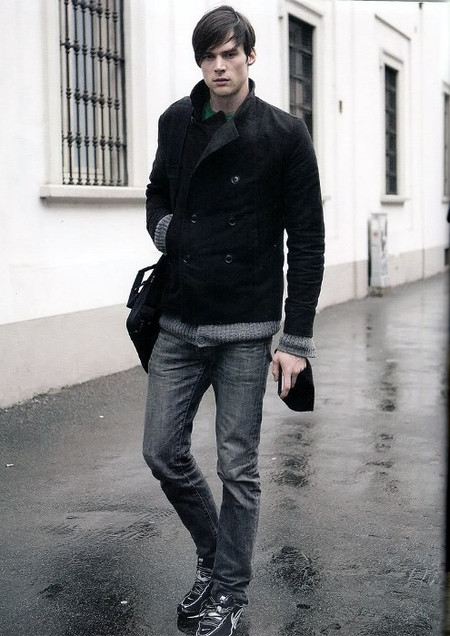 look casual negro y gris