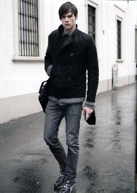 look casual negro y gris