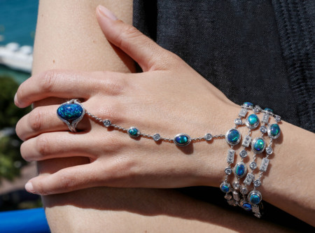 Opal Bracelet Designed By Marion Cotillard For Chopard S Green Carpet Collection