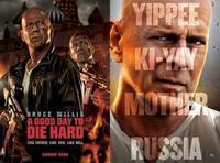 'La jungla: Un buen día para morir' y 'Red 2', carteles de las películas con Bruce Willis