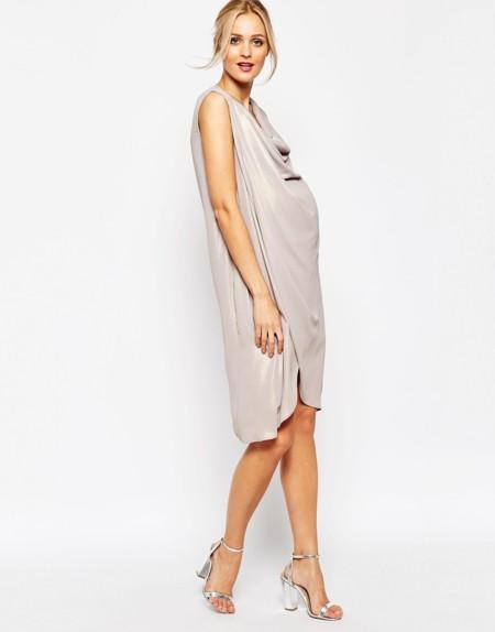 Asos Maternity Vestido Drapeado