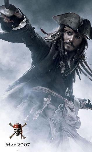 Johnny Depp y Orlando Bloom en los nuevos posters de 'Piratas del Caribe 3'