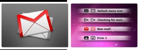 Conjunto de iconos para Gmail Notifr