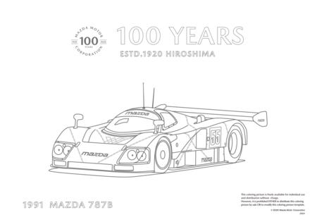 Mazda 787 B para colorear