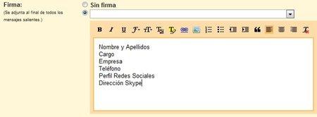 Elementos que debe incluir la firma de correo corporativa