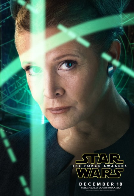 Cartel de Carrie Fisher como Leia