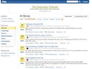 Digg 3.0, la nueva versión ya está aquí