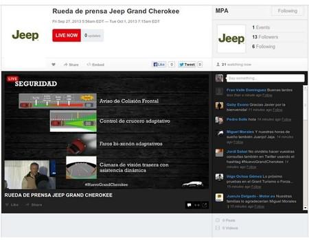 Rueda de prensa Jeep Grand Cherokee
