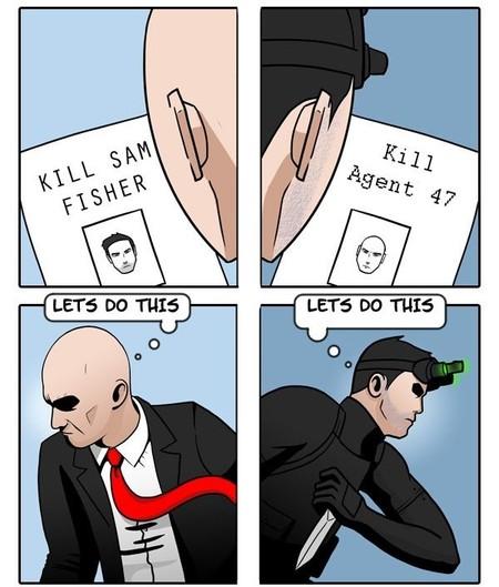 Agente 47 vs. Sam Fisher