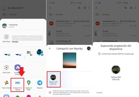 Como Funciona Nearby Share Compartir Fotos Archivos Android Rapido Facil