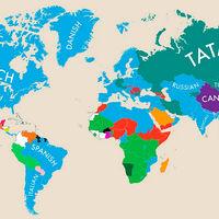 Estos mapas muestran cuáles son los segundos idiomas más hablados en cada país del mundo