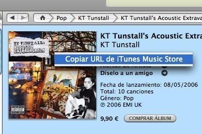Truco: Copiar la portada de un disco de iTunes Music Store