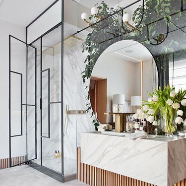 Diseño en el cuarto de baño;  cinco tendencias en mamparas de ducha para conseguir un baño con mucho estilo