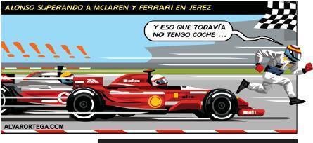 Ecos del sensacional debut de Fernando Alonso en Jerez