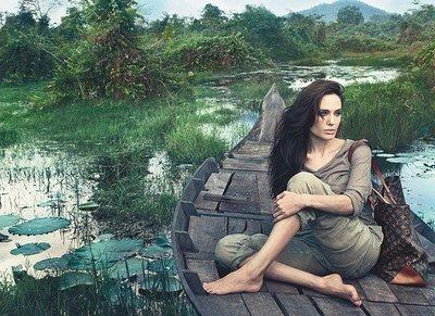 """Angelina Jolie en la campaña de Louis Vuitton y su supuesto """"no maquillaje"""""""