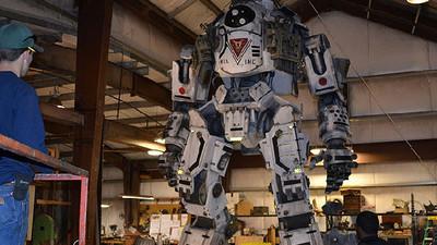 Compañía crea figuras de Titanfall en tamaño real