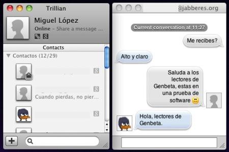 Trillian da sus primeros pasos en Mac OS X