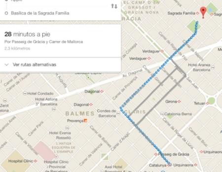 google maps ruta andando