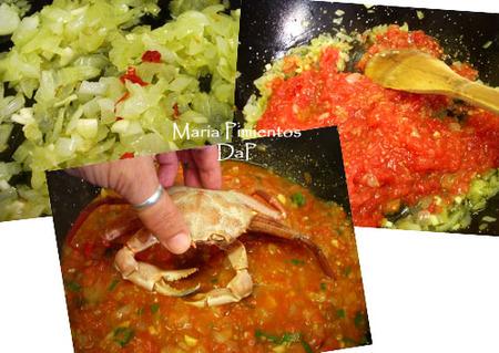 Cangrejos en salsa de tomate