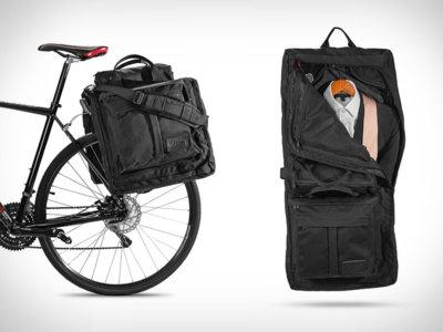 Estupenda maleta para traje adaptada para la bicicleta