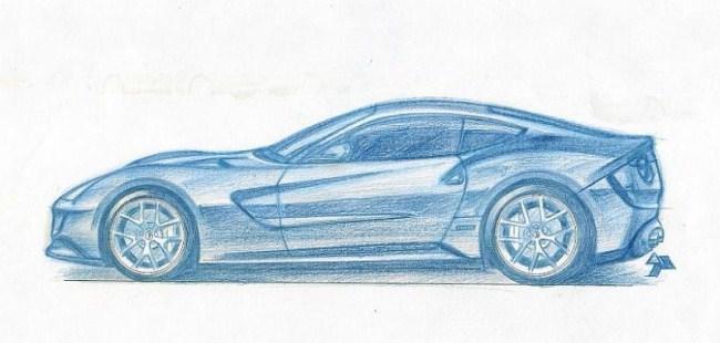 Dibujo Ferrari F620GT