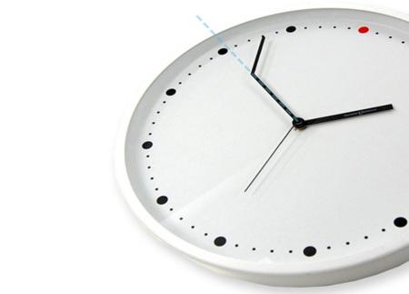 Reloj de pared 'on time' para tardones