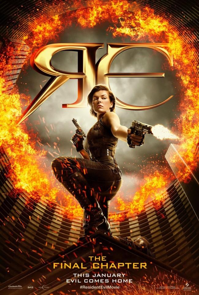 Cartel de Resident Evil 6: El Capítulo Final