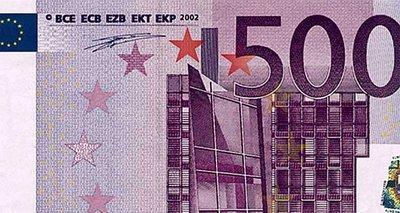 El billete de 500 euros, ese gran desconocido