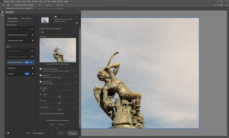 Neural Filters Desenfoque de profundidad Adobe Photoshop