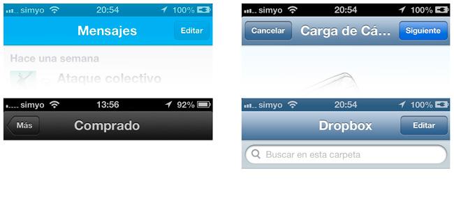 Barras iOS 6